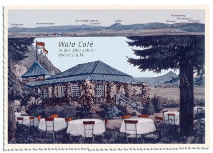 Postkarte vom WaldCafé aus den 20er Jahren